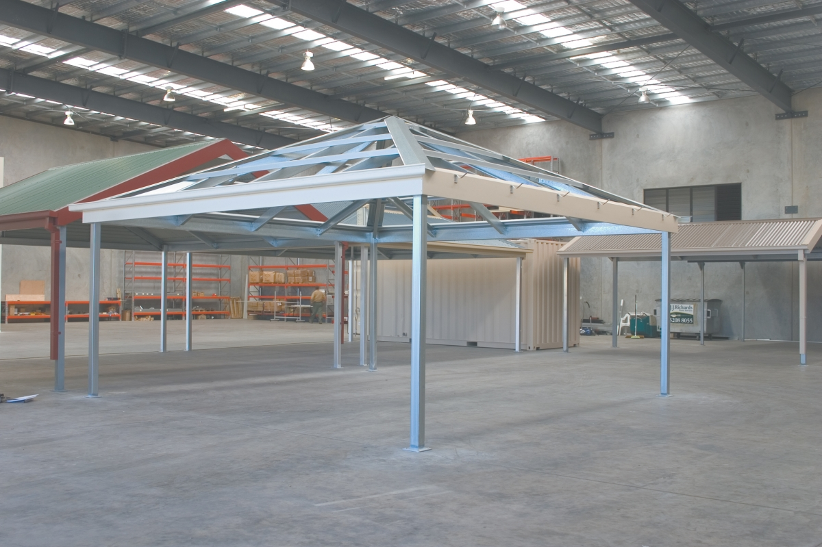 Hip Carports Custom Steel Eclipse Hip Carport Kits Australia Wide